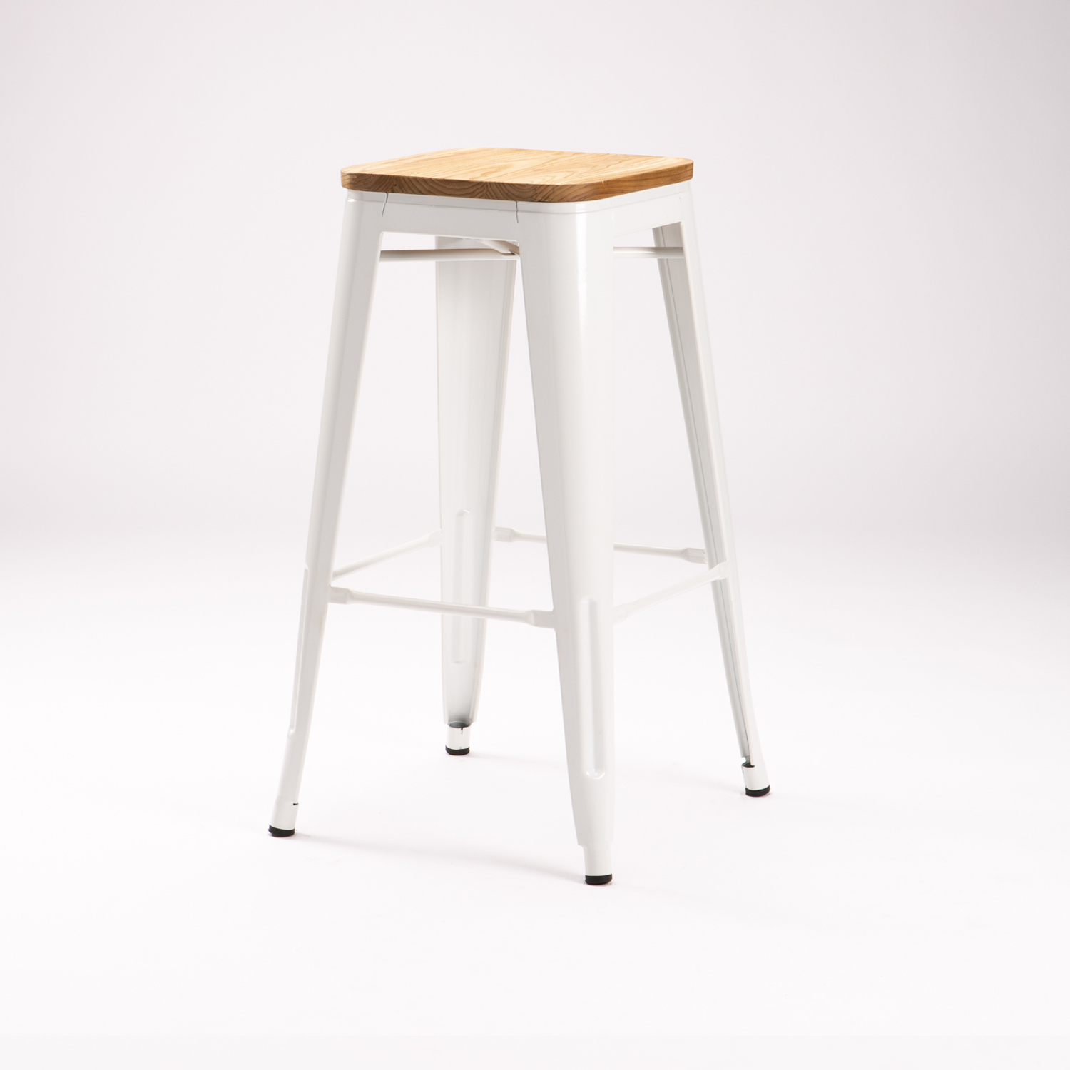 TOLIX KITCHEN STOOL WITH WOOD