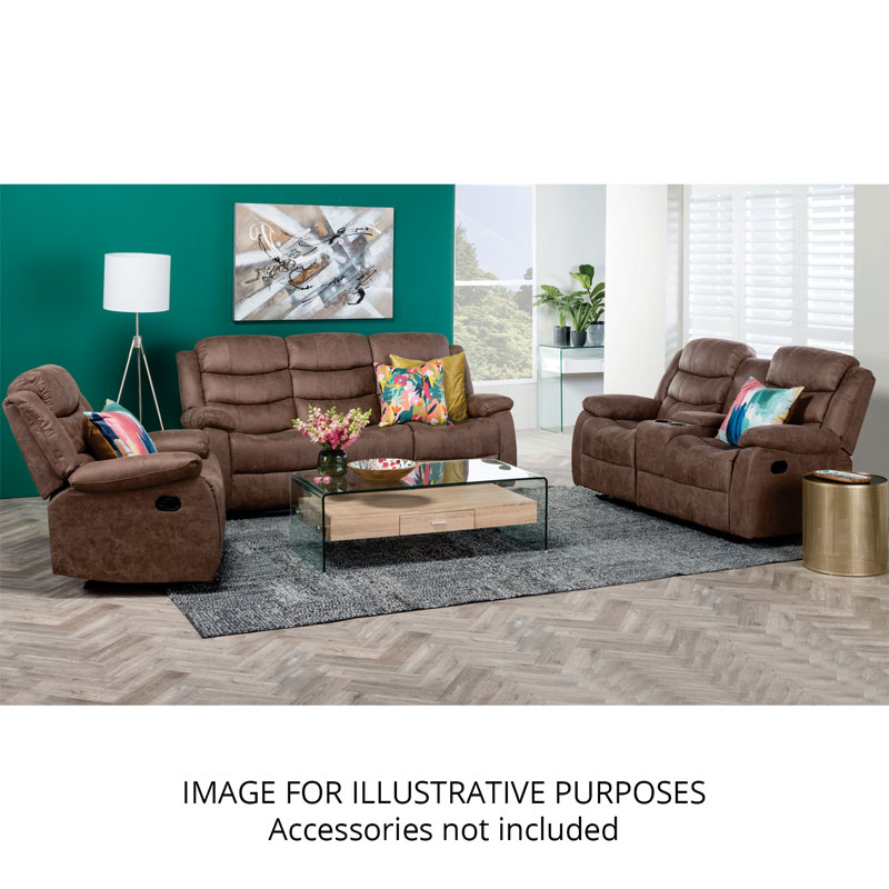 YUZI LUXURY FABRIC 3PC RECLINER SET WITH CONSOLE