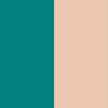 Teal with Natural leg