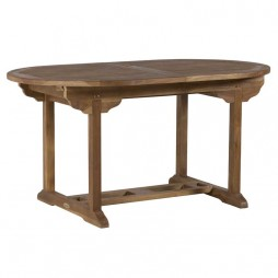 150/200x90cm Teak Oval Extension Table