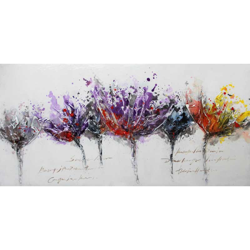 ART G1 - SIX COLOUR FLOWERS 70X140