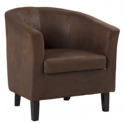 Amy Suede Touch Tub Armchair