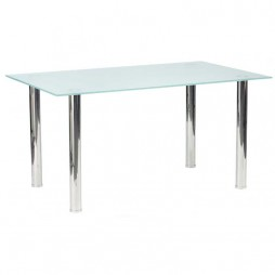 Blair Frosted Glass Top Dining Table