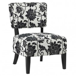 Esther-Chair-BlackCream-Flower-Print