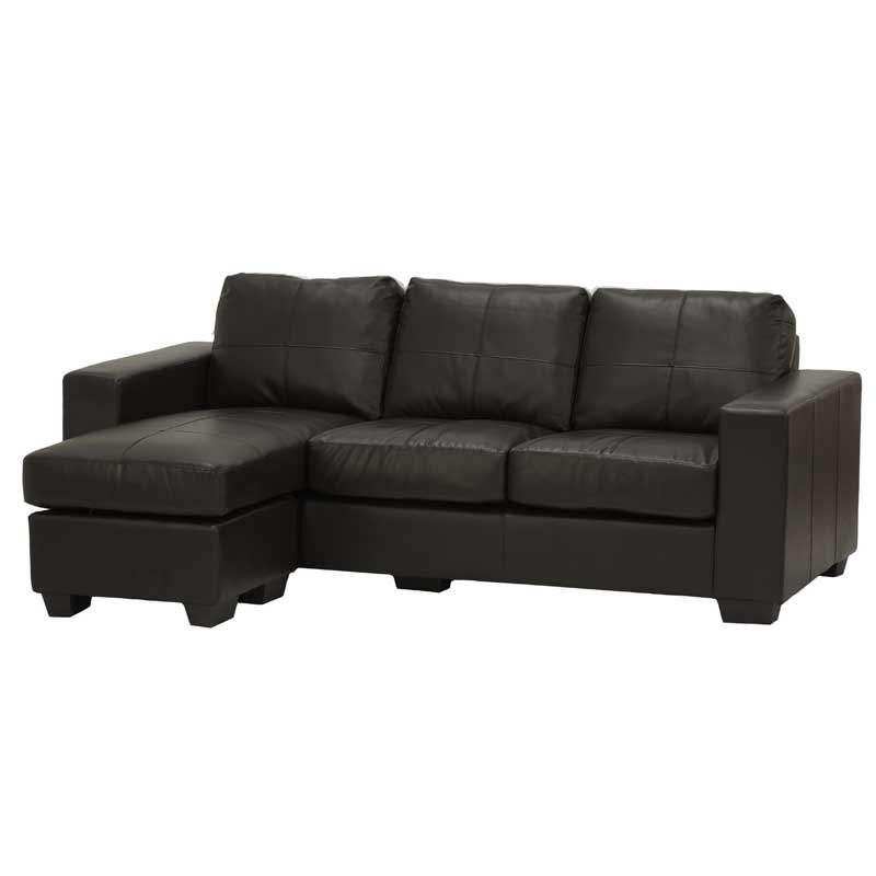 Gail Leather Corner Chaise
