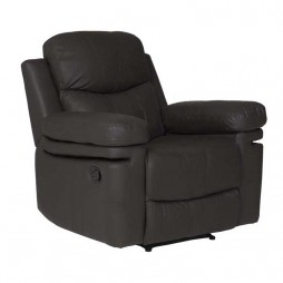 Rio-Top-Leather-Upper-Armchair-Recliner---Brown