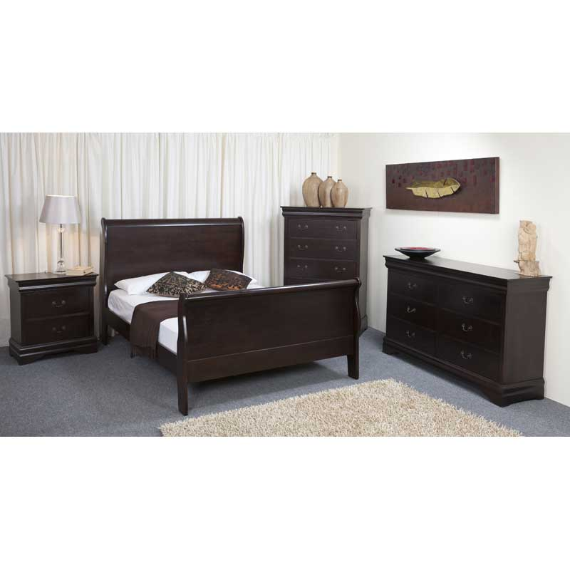 Kate Wooden Sleigh Bed • Decofurn Factory Shop