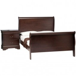 Kate Wooden Sleigh Bed & 2 x Kate Pedestal