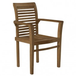 Milan Luxury Teak Stacking Armchair