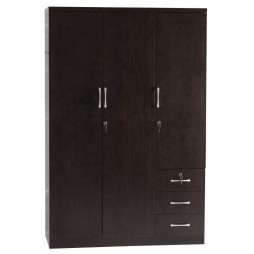 Titan 3 Door 3 Drawer Deluxe Robe