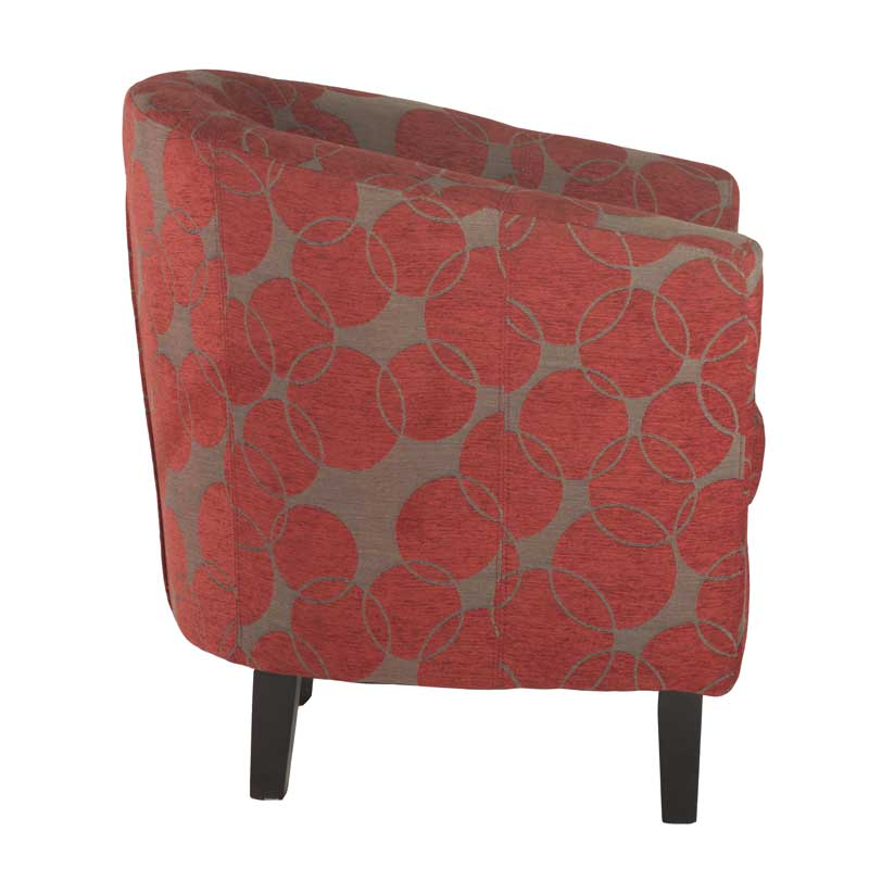 Zara Tub Armchair - Red Circle Print • Decofurn Factory Shop