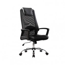 EXEC-HIBACK-OFFICE-CHAIR-W-156-CHROME-BASE---BLACK