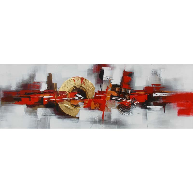ART L - SHADES OF RED & GOLD 50X150