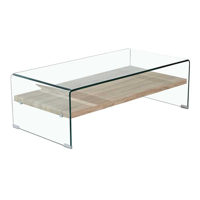 Ivy 120x60cm 12mm Tempered Glass Coffee Table Decofurn