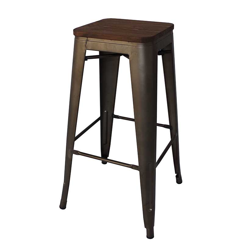 Tolix Barstool With Wood Decofurn Factory Shop