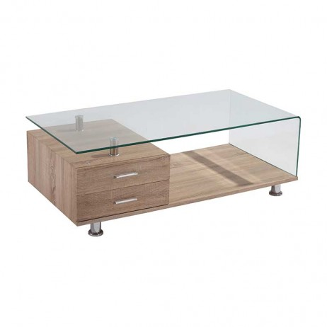 Vine 120x60cm 12mm tempered glass coffee table decofurn for 120 x 60 window