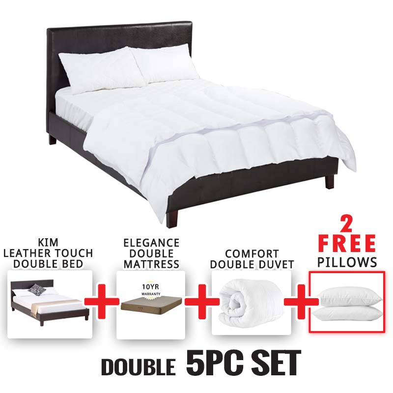 Bedroom Furniture Johannesburg kim double bed 5 piece set • decofurn factory shop