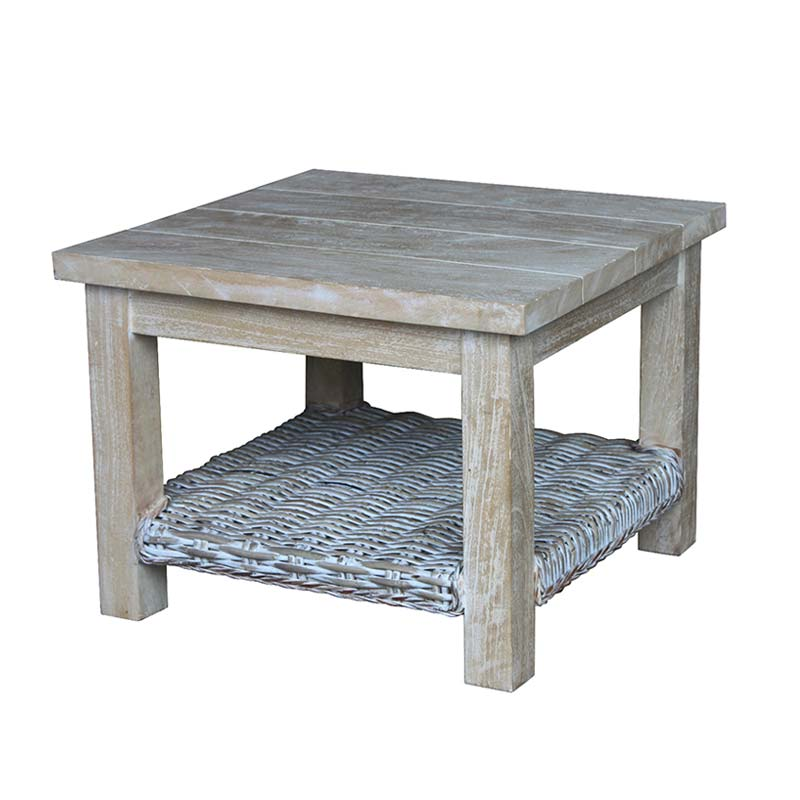 KUBU WHITEWASH 53x53cm SIDE TABLE