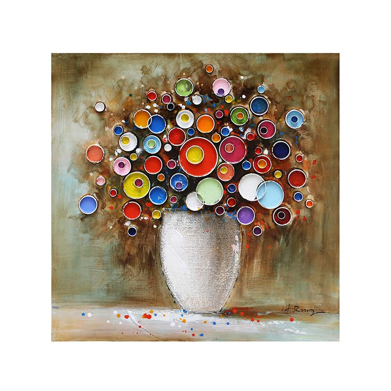 ART ZO - SMALL POT OF FLOWERS 80X80