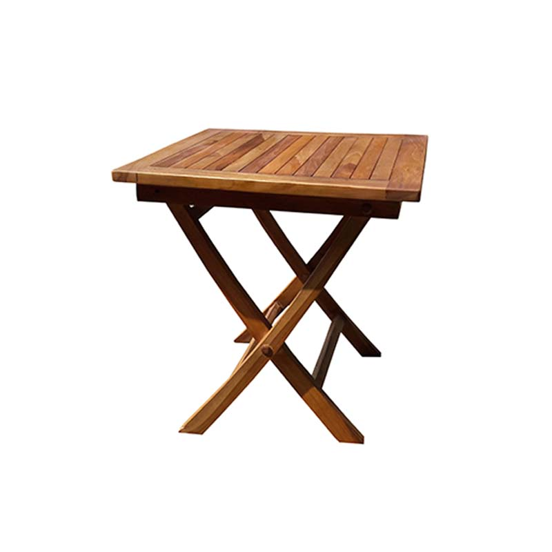 50cm square teak folding side table decofurn factory shop for Outdoor teak side table