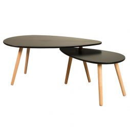 Mila Coffee Table Set of Two BlackPH