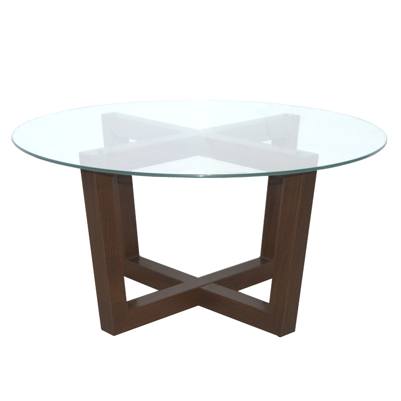 Wooden Dining Tables With Glass Top