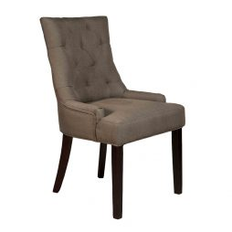 Sultan Dining chair Fabric Coffee Brown