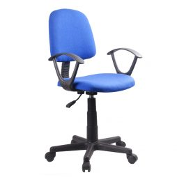 OFFICE CHAIR WITH ARMS OF806 BLUE