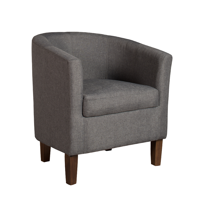 Attractive Kelly Fabric Tub Armchair