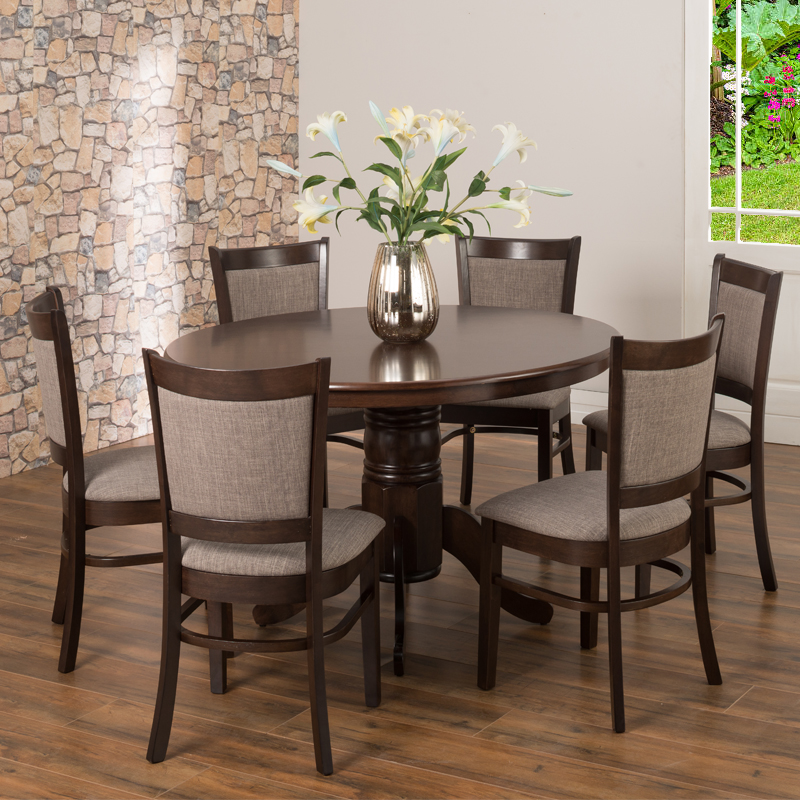 52 Kitchen Tables And Chairs Sets 7 Pc Dining Room: Oliver 120cm Dining Table & 6x Mandy Dining Chairs