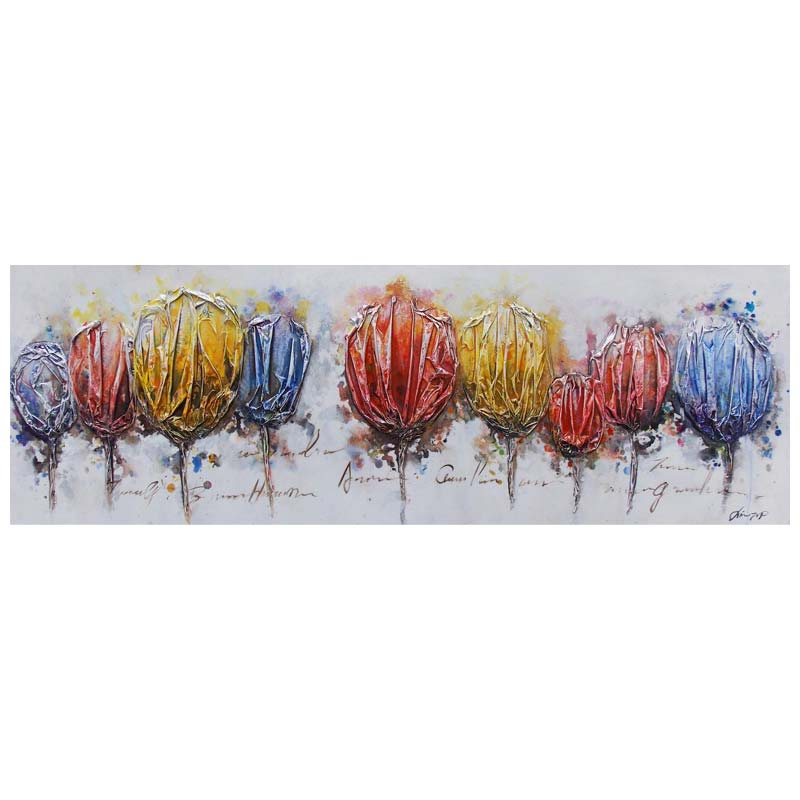 ART ZH - NINE COLOUR FLOWERS 50X150