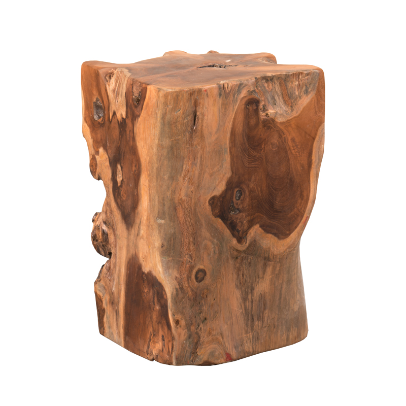 SOLID ROOT RUSTIC 30cm SQUARE STOOL