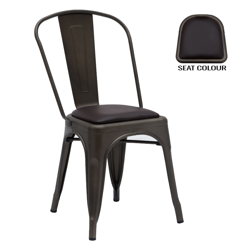 Tolix Dining Chair With Cushion
